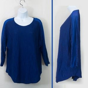 Anthro   MOTH Pullover Sweater Thin Knit Blue Top
